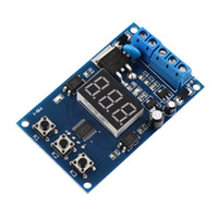 Wholesale Dip Switch Circuit - New Trigger Cycle Timer Delay Switch Circuit Control Board MOS FET Driver Module Blue Digital Hot