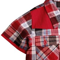 Wholesale Nova Check - baby boys' t shirt nova kids boy children clothing with plaid spring summer short sleeve casual check shirts for baby