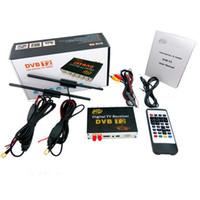 Wholesale Hd Car Tv Antenna - Dual antenna HD Car dvb-t2 car digital tv box tuner terrestrial receiver pvr box with USB slot