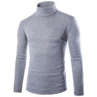 chemise col tricoté achat en gros de-Chemises à tricoter à col haut pour hommes T-shirts à capuche pour hommes T-shirts à capuche pour hommes T-shirts à capuche solides