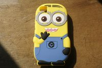 Wholesale Despicable Design Back Case - MOQ:100pcs 3D Cute Brand Design Cartoon Despicable Me Minion Case For BQ Aquaris M5 Soft Silicone Back Cover Case