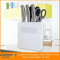 Wholesale Wall Mounted Chefs Rack - Wholesale-20*20*4cm absKnife Scissor Holder Tools Chef Rack Wall Mounted Strip