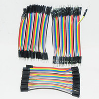 120pcs Dupont Breadboard Pack PCB Jumpers 10CM 2.54MM Cable macho a macho \ Male To Female / Female To Female Jumper Cable 10cm DIY