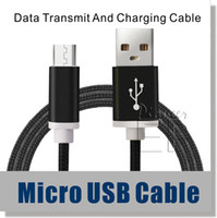 Wholesale Pink Braid - Micro USB Cable Type C 3.1 Nylon Braided 5ft Cable High Speed USB 2.0 A Male to Micro B Aluminum Shell for Samsung S6 S7 edge Note 7 Cable