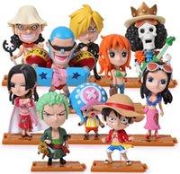 Wholesale Cute Mini Anime Figures Set - Anime One piece Luffy Chopper Sauron full set PVC Figures Cute Mini Figure Toys Dolls Model Collection of toys 10 pcs. Free shipping