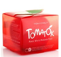 Wholesale Tony Moly Magic - Tonymoly Tomatox Magic Cream Tony Moly Organic Tomato Facial Mask Whitening Moisturizing Facial Mask 80g Tomato Tonymoly Skin Care Mask