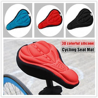 Wholesale cycling gel seat cover resale online - Cycling Bike Saddles D Comfortable Silicone Gel Seat Cover Cushion Soft Bicycle Pad Mountain Bike Parts Acessories