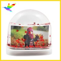 Cadeaux Promotionnels Double-Side Heart Glitters Brand New Vente Chaude Photo Titulaire Snow Globes Fabricant 48 pcs / Carton Drop Shipping