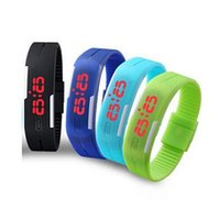 Wholesale Thin Digital Watches For Men - 2016 Unisex Special Offer Ultra-thin Touch Electronic Digital Watch for Women Relgio Casual Men Sport Practical Led Wristwatch Drop Shipping