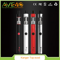 Wholesale kanger evod atomizers for sale - Group buy 100 Original Kangertech Topevod Starter Kit with Kanger Tech ml Top Evod Toptank Atomizer mah Evod Battery Vocc Coil