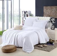 Wholesale queen size western bedding resale online - king size Luxury white bedding set queen duvet cover double bed quilt doona sheet linen bedsheet bedspreads bedroom tencel western