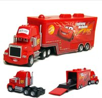 Wholesale 2015 Pixar Cars diecast figure Mack toy Alloy Car Model for kids children Container truck Red No Car MACK HAULER McQueen Dolls A549X