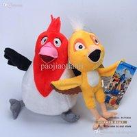 Wholesale Wholesale Nico Plush - Wholesale-Plush anime Movie Rio 2 Nico + Pedro Plush Dolls Soft Stuffed Animal Toy Christmas Gifts Baby Toys 2pcs lot Free Shipping