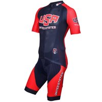 Wholesale Shirts For Bike - USA team Short Sleeves Cycling Jersey and cycling bib shorts sets Bike Cycling Shirt Ciclismo Clothes for Men