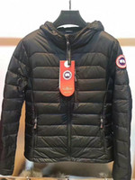 Wholesale Women Puffer Jacket M - 2018 High Quality CANADA New Winter women's Down puffer jacket Casual Brand Hoodies Down Parkas Warm Ski Mens Coats Black Red 706