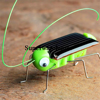 2017 Energía Solar Powered Spider Cockroach Power Robot Bug Saltamontes Juguete Gadget Educativo Temprano para Niños Mini Kit Novedad Kid