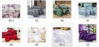 Wholesale Wholesale King Size Quilt Sets - Wholesale-Silk satin bedding set California king quilt duvet cover brand sheets bed bedsheet queen size bedroom linen 7pcs set 5sets lot