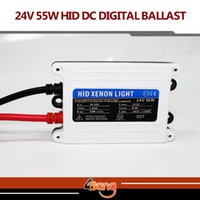 Wholesale Hid Xenon Replacement Ballast 55w - 2pcs 24V DC 55W TOP Quality Good Quality HID xenon slim digital ballast hid ballast car ballast Replacement Parts