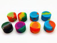 Wholesale Rubber Slicker - FDA food grade oil slick 3ml matte finish non stick dab bho small Wholesale silicone jars dab wax container 26x15mm