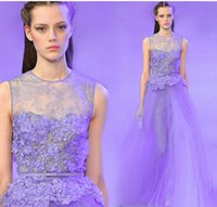 Wholesale Bridal Gown Purple Sash - 2015 New Chiffon long floor Length Crew Bridesmaid Dresses with sash zipper light purple Cheap Summer Beach Bridal Party Gowns with beaded
