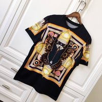 Wholesale Vintage Butterfly Prints - 18ss Luxury Europe Vintage 3D Paris Star Butterfly Tshirt Fashion Men Women T Shirt Casual Tee Top