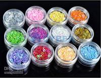 Wholesale Art Crush - 2015 new arrival 120pots Colorful Nail Art Glitter Powder Decoration Crush Shell Bead For acrylic UV gel UQ Free Ship