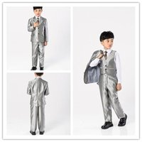 Wholesale Chart Yellow Clothes - Custom Made! 2015new fashion boy child formal suit children's clothing set child party suit blazer suit