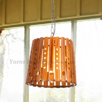Wholesale Bamboo Pendant Lights - Manual Pendant Lamp Decoration Chinese Rural nostalgic Bamboo Lighting Single Head Meal Hanging PL105 Free Shipping