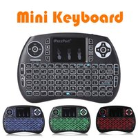 Wholesale Keypad For Tablets Wholesale - 3colors backlight air mouse keyboard mini 2.4GHz wireless keypad backlit gaming mouse for computers laptops xbox gaming tv box tablet