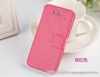 """Wholesale Apple Iphone 5g 6th - Wallet ID Credit Card KickStand Flip PU Leather Purse Case Back Cover for Apple iphone 5 5G 5C 5S 4.7"""" iphone 6 6G 6th"""