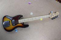 Wholesale electric guitar left handed sunburst for sale - Group buy Banjo left handed electric bass guitar JAZZ BASS sunset colors guitar