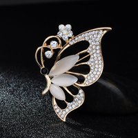 New Cute Opal Butterfly Brooches Jewelry Fahion belle donne regalo unico Wedding Bijoux Pins Boaches Articolo innovativo