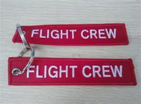 Wholesale Motorcycle Key Chains - Flight Crew Key Chain Aviation Luggage Motorcycle Pilot Crew Bag Tag 13 x 2.8cm 100pcs lot