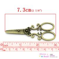 Wholesale Bronze Scissors - Charm Pendants Scissors Antique Bronze 7.3x3cm,10PCs (K02845) 8years pendant lighting dining room pendant energy pendant energy