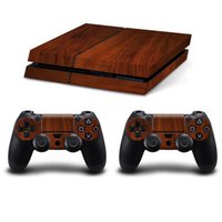 Wholesale Controller Stickers - VVSKIN Cool Wooden Style Vinyl Decal PS4 Skin Stickers Protector For PlayStation 4 Console & 2 PCS Skin Stickers for PS4 Controller