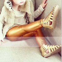 Wholesale Kids Fashion Leather Leggings - Fashion Girl Dress Leggings For Kids Children Clothes Kids Clothing 2015 Leather Leggings Girls Tights Leggings Pants Long Trousers C12584
