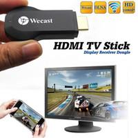 tv android adapter großhandel-Großhandels-NEUER drahtloser Wifi Miracast AirPlay DLNA Spiegel-Telefon-Schirm zum HDMI Fernsehapparat Adapter-Dongle-Empfänger für iPhone Android #WCast