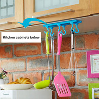 Sundries Plastic Eco Friendly Kitchen ceiling hook Ceiling Storage rack cabinet 3M Command adhesive Bearing 2KG A196