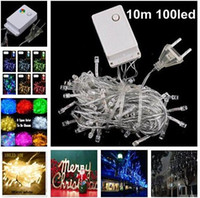 Wholesale Christmas Outdoor Lighting Sale - Christmas light Holiday Sale Outdoor 10m 100 LED string 8 Colors choice Red green RGB Fairy Lights Waterproof Party Christmas Garden light