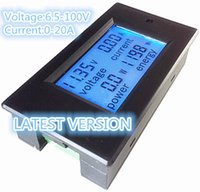 Wholesale Energy Power Voltage - PEACEFAIR NEW product DC 6.5-100V 20A 4 IN1 digital display LCD screen voltage current power energy meter