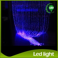 Wholesale Led Lighted Waterfall - LED Curtain Light Waterfall Light 6m*3m 2m*2.5m 3m*3m Water Flow Christmas Wedding Party Holiday Decoration LED Strings Fairy String Lights