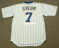 Cheap Custom DALE SVEUM Milwaukee Brewers 1987 Majestic Cooperstown Home Baseball Jersey Mens retrò maglie
