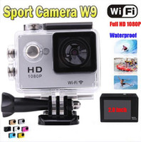 SJ6000 Style W9 WIFI Action Camera Diving 30M 2.0''LCD 12mp Водонепроницаемый camara 1080P Full HD Helmet Underwater Sports DV Видеокамера