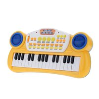"""Wholesale Multifunctional Toys For Children - 10"""" 32 Keys Educational Cartoon Electone Multifunctional Electronic Keyboard Music Toy Gift for Children Babies Kids order<$18no track"""