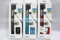 Wholesale aluminum alloy selfie monopod online - 3 in kit Z07 Extendable Handheld Selfie Monopod Stick Bluetooth Remote control shutter For SAMSUNG S6 edge Android phone IOS iphone