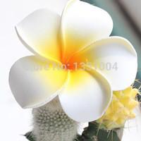 """Wholesale Wholesale Foam Plumeria - 2"""" (5cm) Hawaiian PE Plumeria flower Frangipani foam Flower for headwear 100pcs lot Free Shipping"""