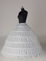 Wholesale Bridal Crinoline Plus Size - In Stock Plus Size Ball Gown 6 Hoop Wedding Bridal Petticoat Crinoline Underskirt Wedding Petticoats