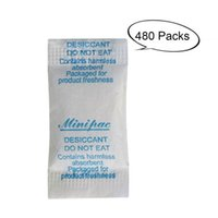 Wholesale Household Dehumidifier - 480 Pcs 0.5g Non-Toxic Silica Gel Desiccant Dehumidifier Moisture Absorber Desiccants Bag Household Closet Chemicals Sachets