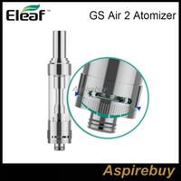 kit ismoka al por mayor-Eleaf ismoka GS Air 2 Atomizador 2ML Tanque GS-Air 2 Dual Coil Atomizer Airflow Ajustable para Eleaf istick Basic Kit 100% Original