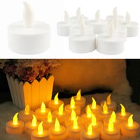 20pcs / lot Electronic LED Candle Flickering Tea Light Xmas / Festa de Casamento Fumantes Flickering Tea Light uso interior ao ar livre